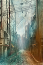 Cartoon: City (small) by alesza tagged city,architecture,buildings,house,digital,painting,art,artwork,illustration
