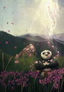 Cartoon: Recreation - Kung Fu Panda (small) by alesza tagged recreation,kung,fu,panda,take,break,fan,art,movie,digital,painting,drawing
