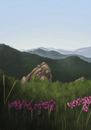 Cartoon: Spring (small) by alesza tagged spring frühling nature flowers mountains blumen