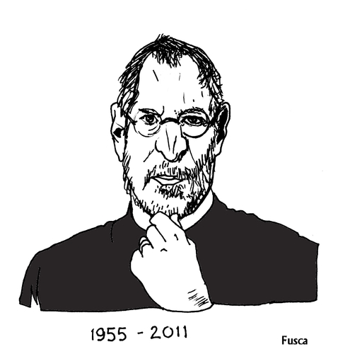 Cartoon: Steve Jobs (medium) by Fusca tagged comparisons,lula,jobs,steve