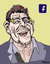 Cartoon: billionaire Bono Vox (small) by Fusca tagged cynical,leftist,musician,billionaire