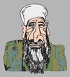 Cartoon: Bin Laden (small) by Fusca tagged terrorism third world bin laden brazilian pt government asylum battisti osama