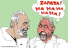Cartoon: Castro Lula and murdered Zapata (small) by Fusca tagged tyrants,latin,america,communist,dictatorship