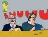 Cartoon: Dilma Lula blamed for corruPTion (small) by Fusca tagged lula,dilma,mensalao,corruption,latrocracy,protests,change