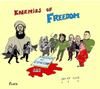 Cartoon: Enemies of Freedom (small) by Fusca tagged terror,jihad,extremists,crime,freedom,islam