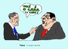 Cartoon: Obama with Chavez in Trinidad T. (small) by Fusca tagged obama,chavez,lula,joke