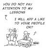 Cartoon: Pay attention to lesson (small) by fragocomics tagged school,educational,education