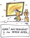 Cartoon: Cleaning (small) by Monica Zanet tagged zanet free museen
