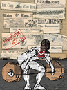 Cartoon: Weightlifter (small) by Zoran Spasojevic tagged weightlifter,zoran,digital,graphics,emailart,spasojevic,paske,collage,kragujevac,serbia