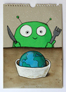 Cartoon: good morning (small) by stefan hoch tagged good morning breakfast alien earth world welt frühstück