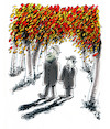Cartoon: Autumn (small) by helmutk tagged family