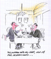 Cartoon: Restaurant Diet (small) by helmutk tagged business