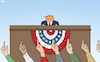Cartoon: A Parade for Trump (small) by Tjeerd Royaards tagged trump,usa,president,parade,middle,finger,protest