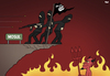 Cartoon: Battle of Mosul (small) by Tjeerd Royaards tagged isis,islamic,state,mosul,devil,attack,defeat
