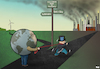 Cartoon: Crossroads (small) by Tjeerd Royaards tagged coronavirus,economy,sustainability,environment,capitalism,pollution,earth