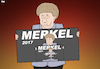 Cartoon: Elections in Germany (small) by Tjeerd Royaards tagged merkel,germany,bundeskanzler,chancellor,elections,victory