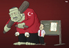 Cartoon: Justice in Turkey (small) by Tjeerd Royaards tagged erdogan,turkey,corruption,law,court,justice