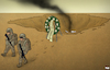 Cartoon: Leaving Afghanistan (small) by Tjeerd Royaards tagged afghanistan,troops,usa,army,pullout,withdraw,war,leave