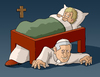 Cartoon: Monster under the bed (small) by Tjeerd Royaards tagged pope,catholicism,church,religion,abuse,sex,celibacy