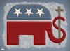 Cartoon: The Republican Party (small) by Tjeerd Royaards tagged religion,romney,usa,obama,ryan,democracy,democrats,elections,capitalism,faith,god