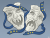 Cartoon: Theatre (small) by Tjeerd Royaards tagged greece,euro,imf,brussels,money,cutbacks,tragedy