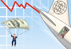 Cartoon: Volatile markets (small) by Tjeerd Royaards tagged stock,market,crash,economy,rich,poor,business