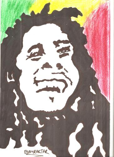 Cartoon: BOB MARLEY (medium) by Seydi Ahmet BAYRAKTAR tagged marley,bob