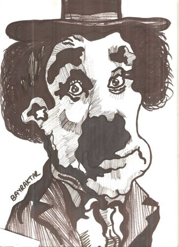 Cartoon: CHARLIE CHAPLIN (medium) by Seydi Ahmet BAYRAKTAR tagged chaplin,charlie