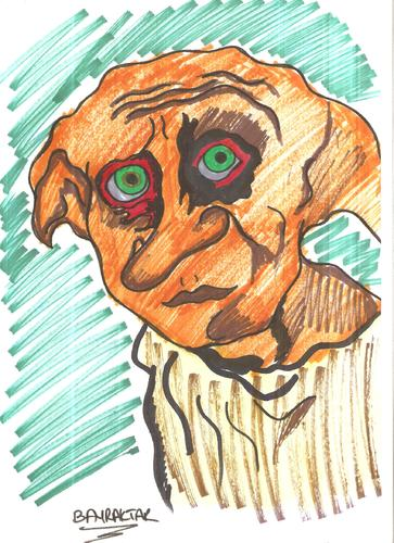 Cartoon: DOBBY (medium) by Seydi Ahmet BAYRAKTAR tagged potter,harry