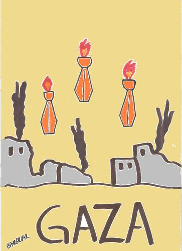Cartoon: gaza (medium) by Seydi Ahmet BAYRAKTAR tagged gaza