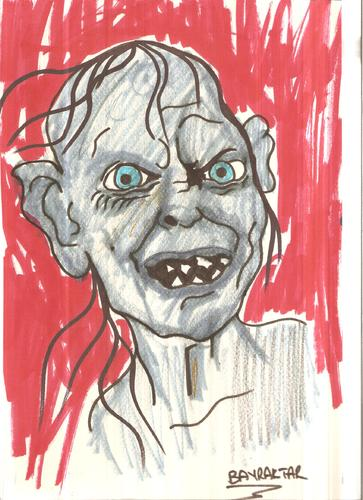 Cartoon: GOLLUM (medium) by Seydi Ahmet BAYRAKTAR tagged gollum