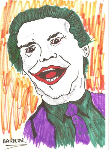 Cartoon: JOKER  Jack Nicholson (medium) by Seydi Ahmet BAYRAKTAR tagged joker
