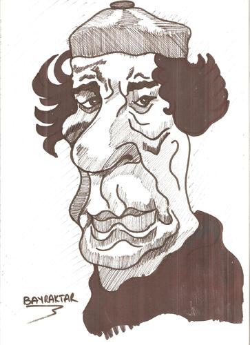 Cartoon: KADDAFI (medium) by Seydi Ahmet BAYRAKTAR tagged kaddafi