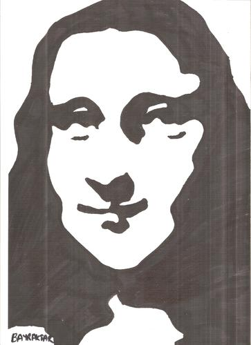 Cartoon: Mona Lisa (medium) by Seydi Ahmet BAYRAKTAR tagged mona,lisa