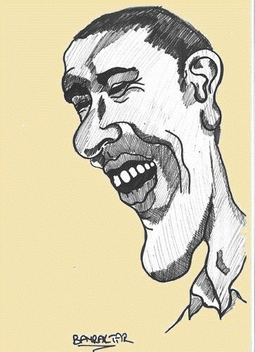 Cartoon: obama (medium) by Seydi Ahmet BAYRAKTAR tagged obama