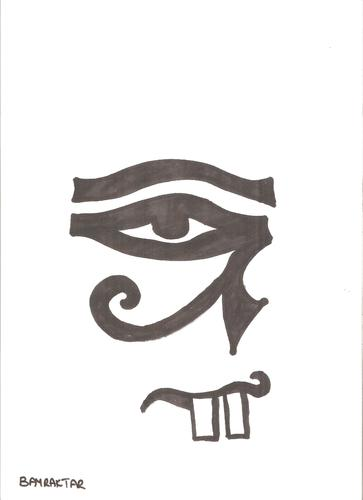 Cartoon: ra eye (medium) by Seydi Ahmet BAYRAKTAR tagged eye,ra