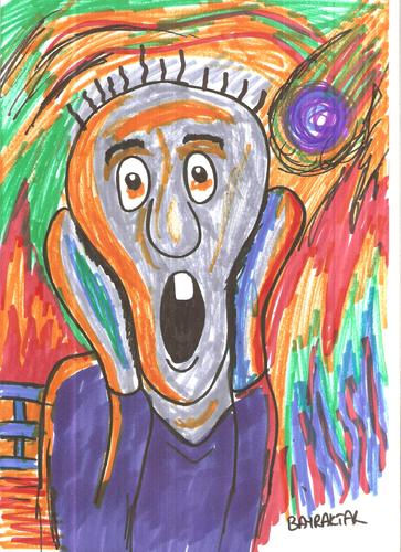 Cartoon: SCREAM (medium) by Seydi Ahmet BAYRAKTAR tagged scream