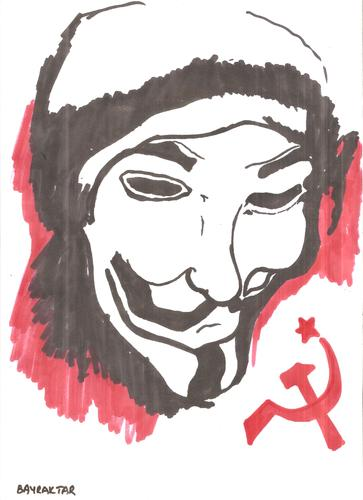 Cartoon: V For Vandetta (medium) by Seydi Ahmet BAYRAKTAR tagged for,vandetta