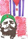 Cartoon: fidel castro (small) by Seydi Ahmet BAYRAKTAR tagged fidel,castro