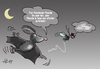 Cartoon: Fledermaus (small) by Henrich tagged tierleben