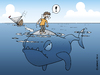 Cartoon: Seenot (small) by Rovey tagged seenot,schiffbruch,segelboot,ozean,mann,untergang,segeln,notfall,fisch,walfisch,wal,monster,meer,horizont,wasser,tiefe,blau,distress,at,sea,ocean,water,deep,blue,fish,man,sailing,castaway,shipwrecked,horizon,emergency