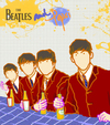 Cartoon: Beatles and Pepsi (small) by popmom tagged beatles