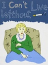 Cartoon: smoking woman (small) by popmom tagged smoking