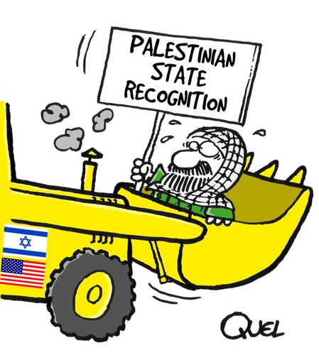 Cartoon: PALESTINIAN STATE RECOGNITION (medium) by QUEL tagged palestinian,state,recognition