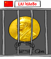Cartoon: LIU XIAOBO NOBEL PEACE PRICE (small) by QUEL tagged liu,xiaobo,nobel,peace,price