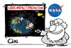 Cartoon: UARS SATELLITE IMPACT PREDICTION (small) by QUEL tagged uars,satellite,impact,prediction