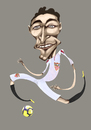 Cartoon: jesus navas (small) by pincho tagged jesus,navas,futbol,football,sevilla,club,delantero,crack,deporte,seleccion,mundial