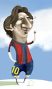 Cartoon: Leonel Messi version (small) by pincho tagged leo,messi,leonel,futbol,barcelona,argentina,seleccion,crack,gol