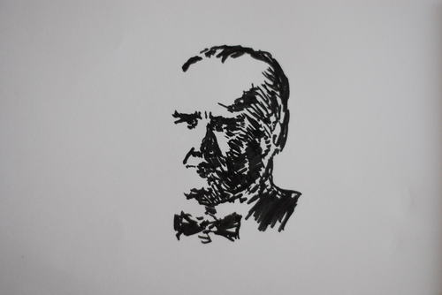 Cartoon: Atatürk (medium) by MSB tagged atatürk