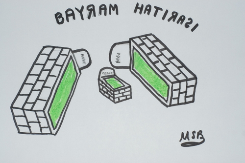 Cartoon: bayram tatili (medium) by MSB tagged bayram